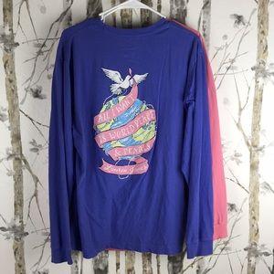 2 Lauren James long sleeve T-Shirts, Size Medium